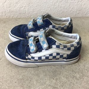✅Kids Toddler Vans Checkered Shoes size 9